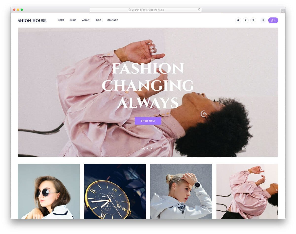 free responsive eCommerce website template with fluid interface