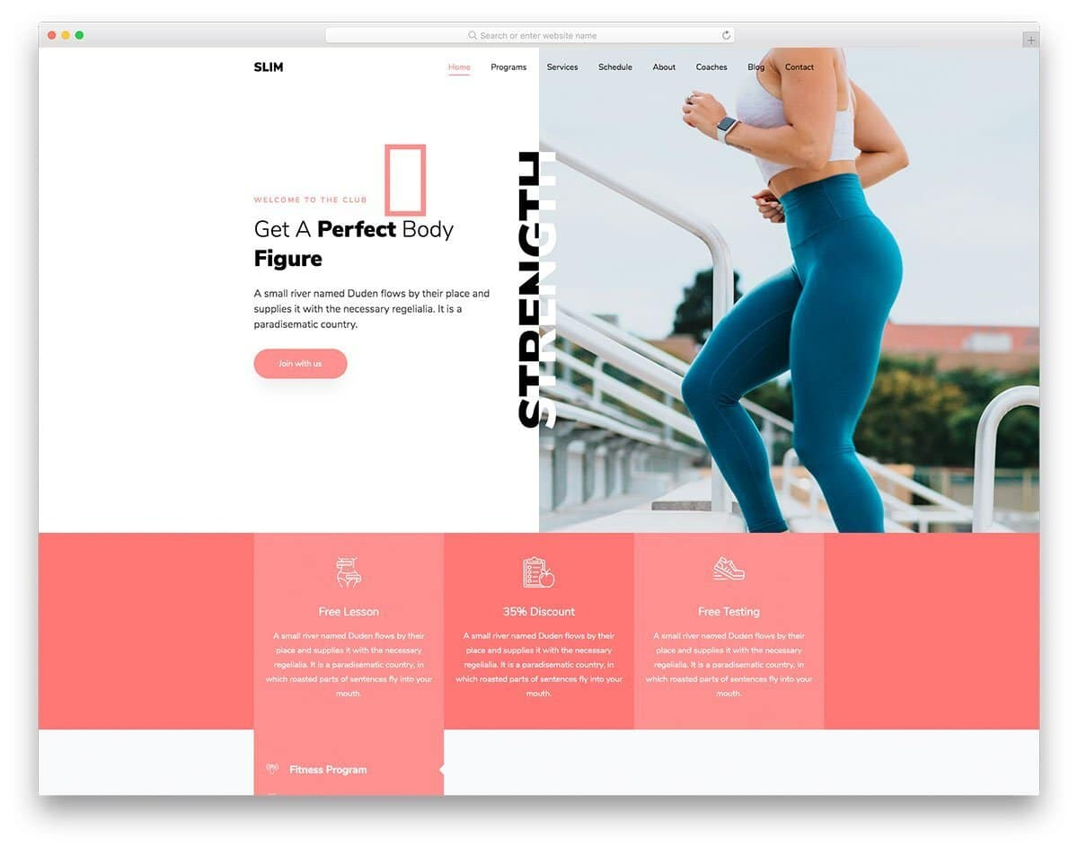 multipurpose health and fitness website template