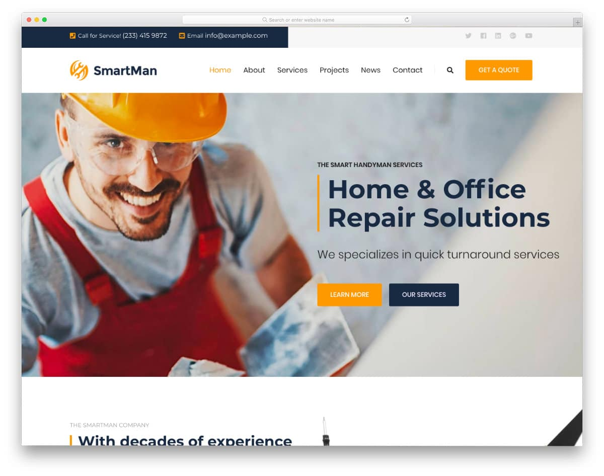 handyman service website template