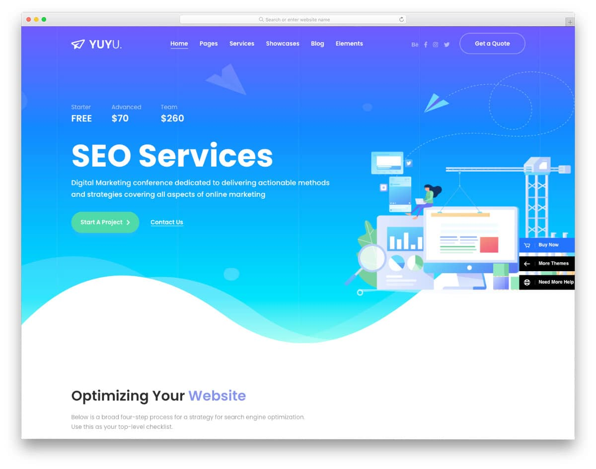 feature-rich SEO agency WordPress theme