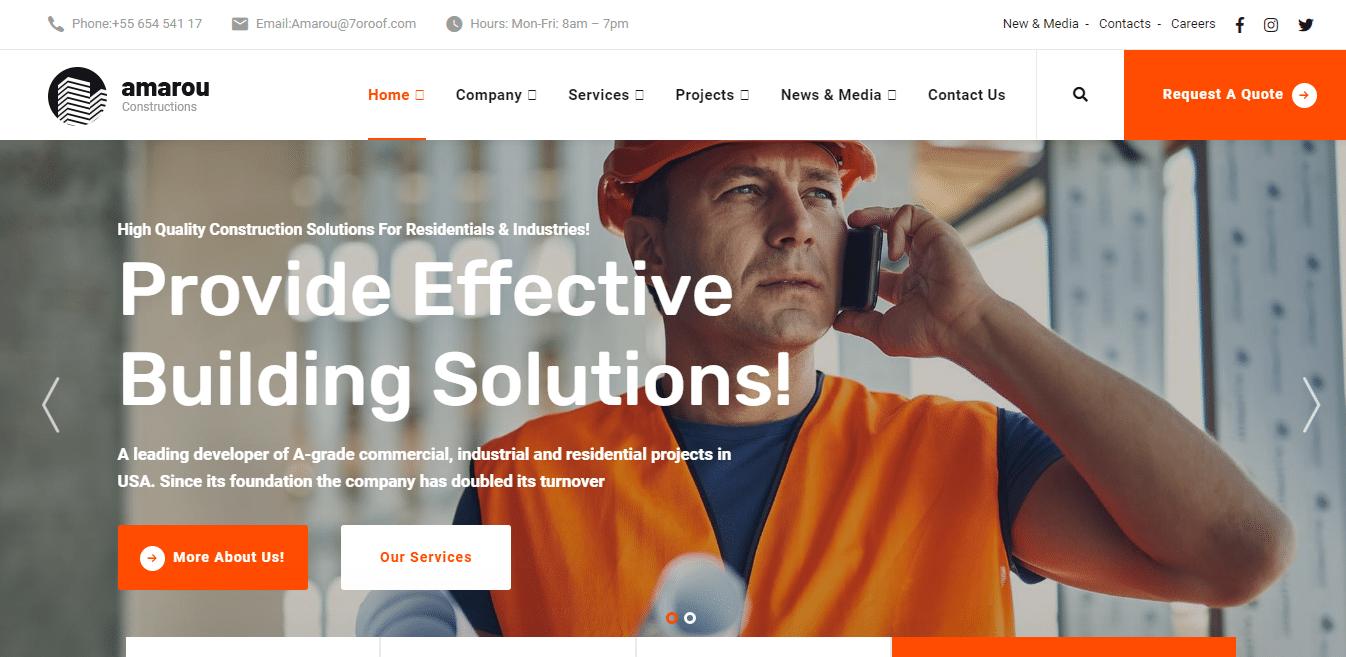 amarou-construction-website-template