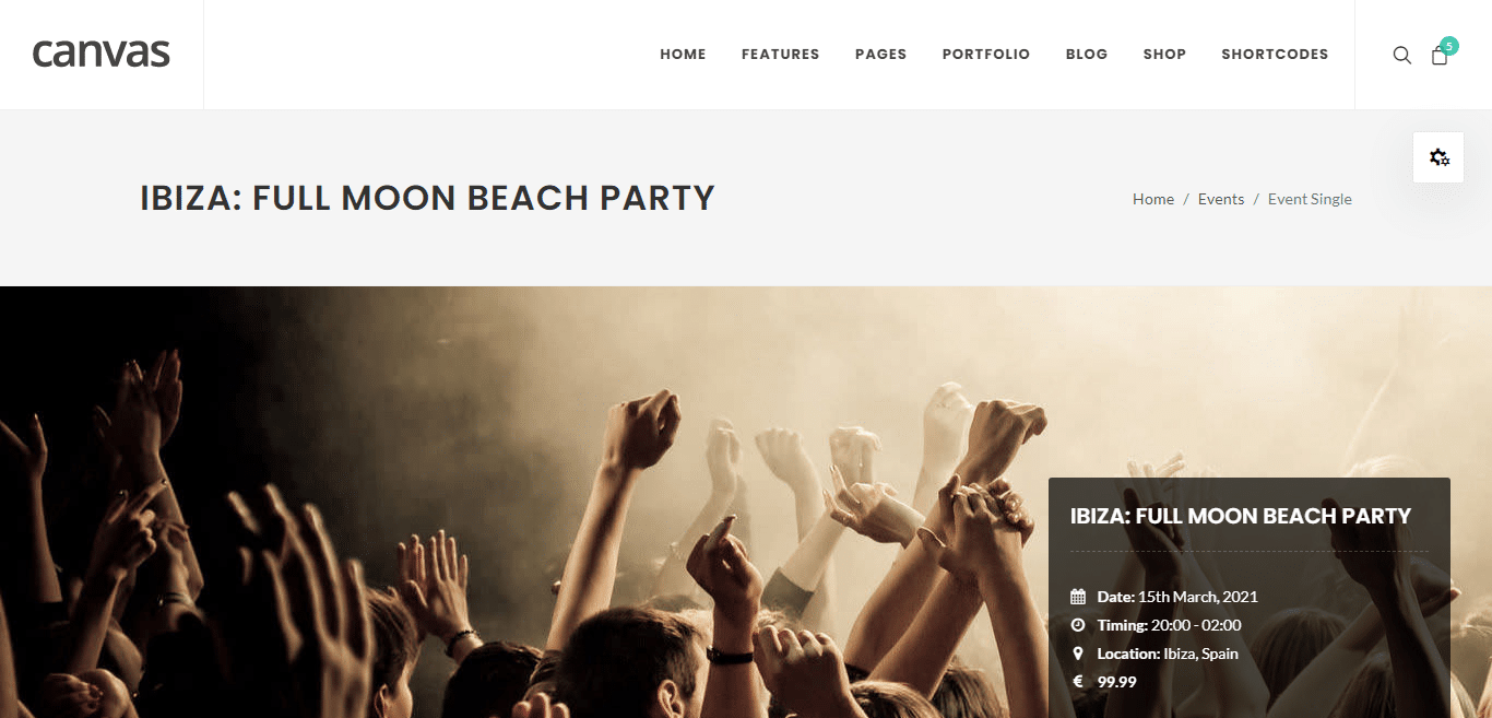 canvas-event-website-template