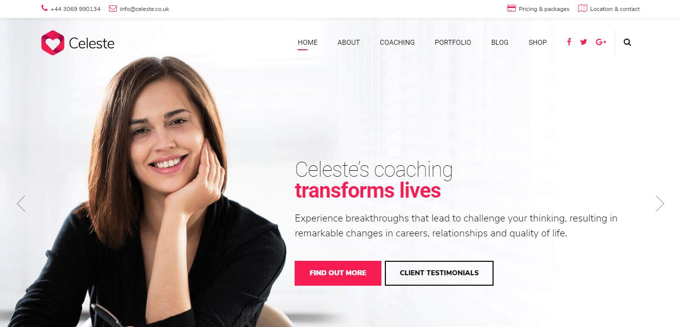 celeste-coaching-website-template