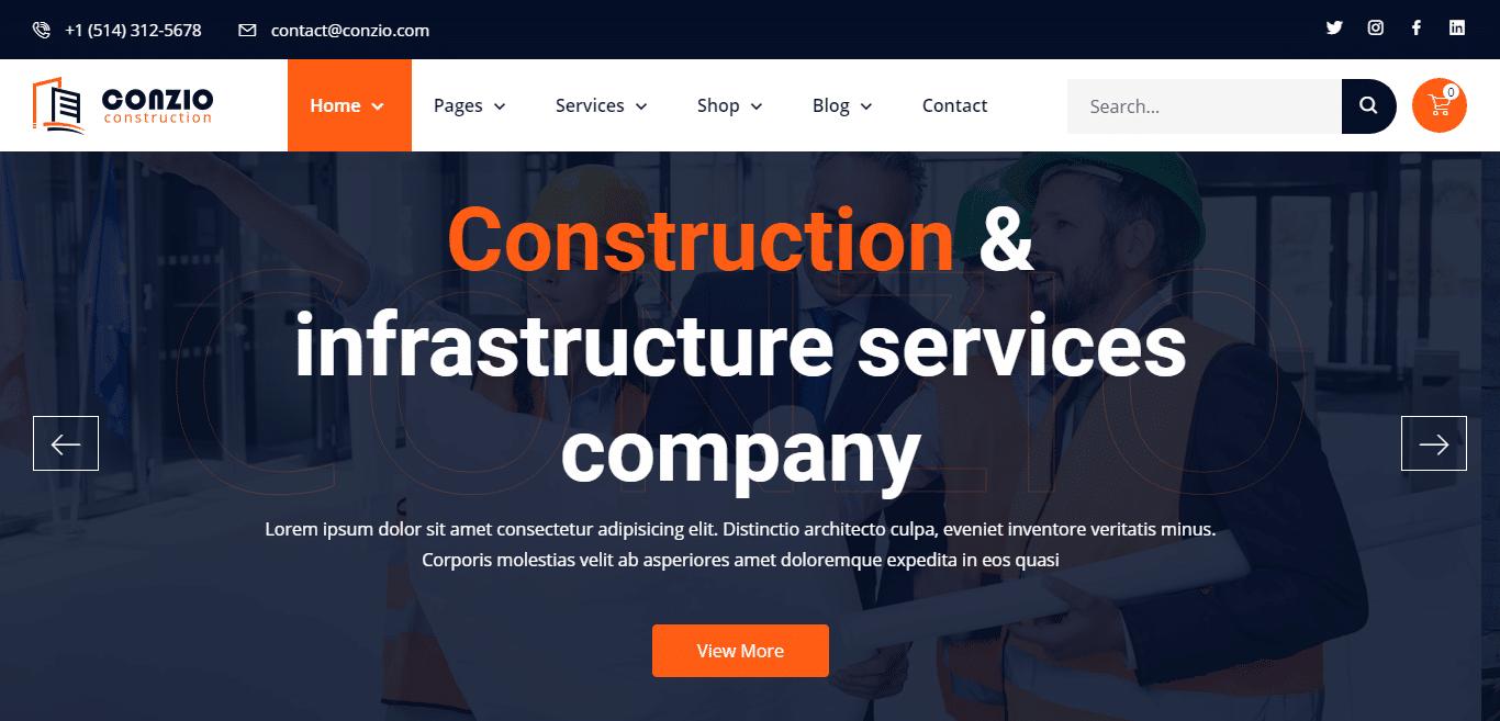 conzio-construction-website-template