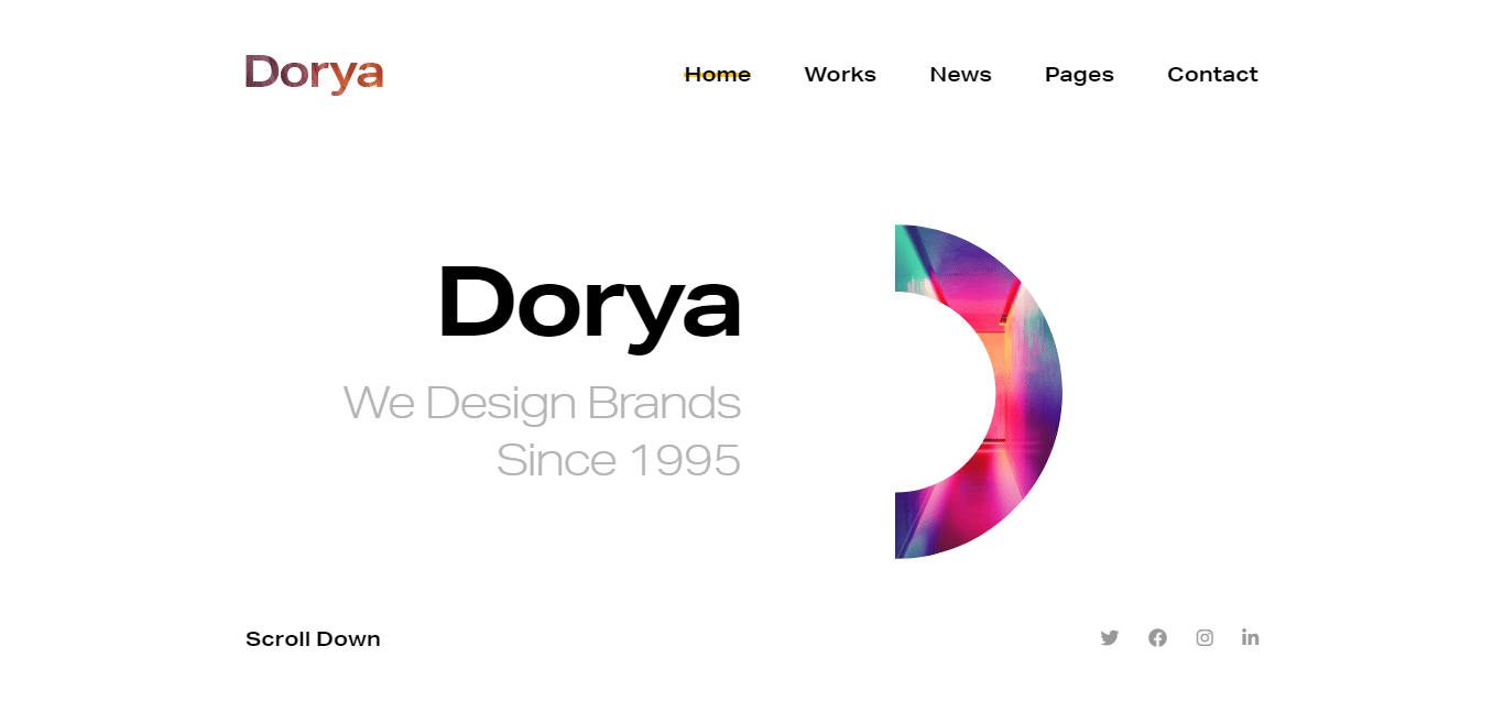 dorya-minimal-website-template