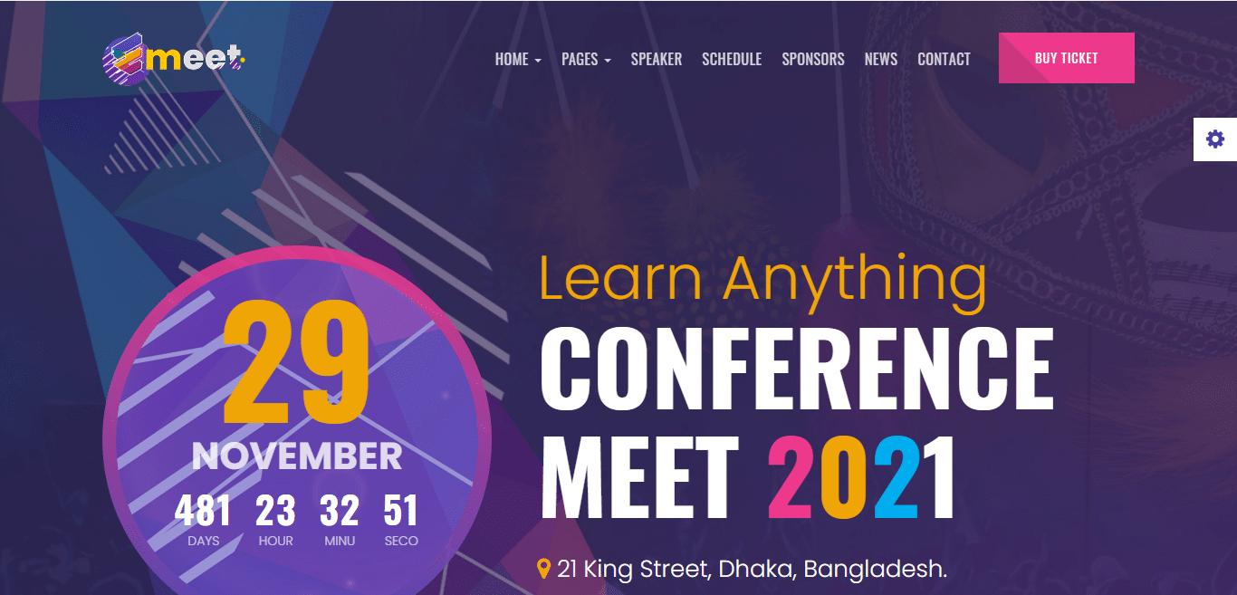 emeet-event-website-template