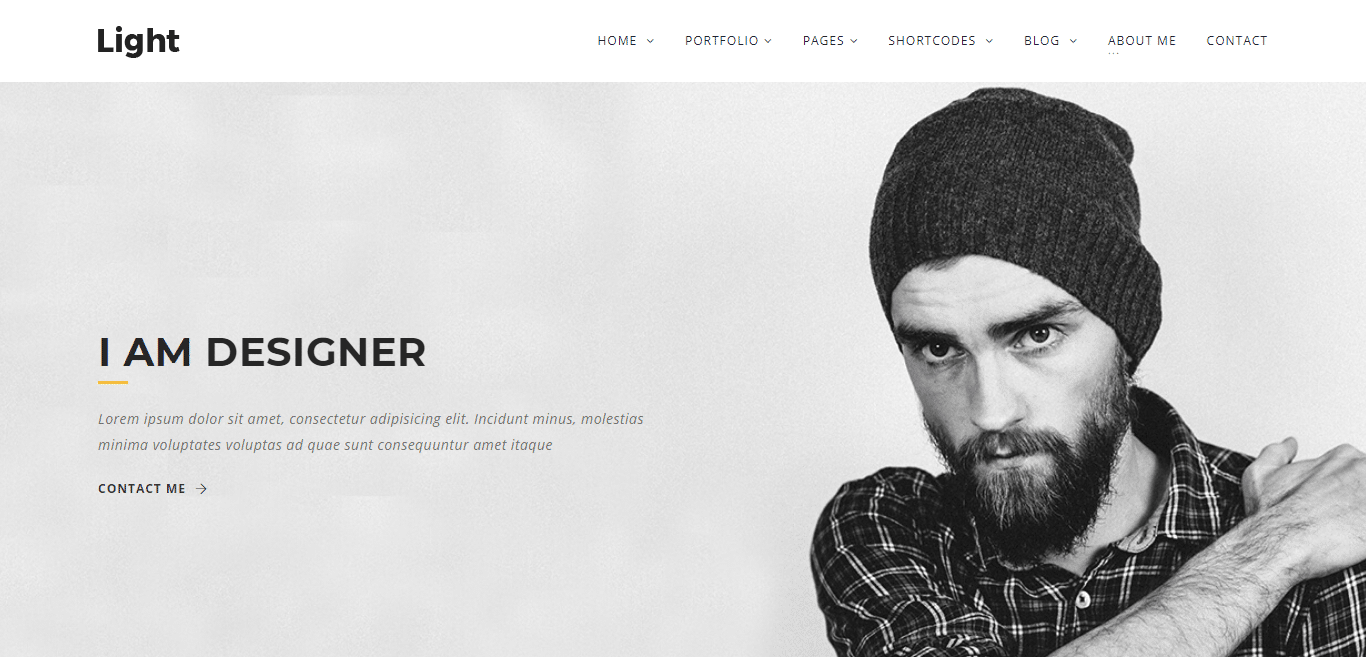 light-minimal-website-template