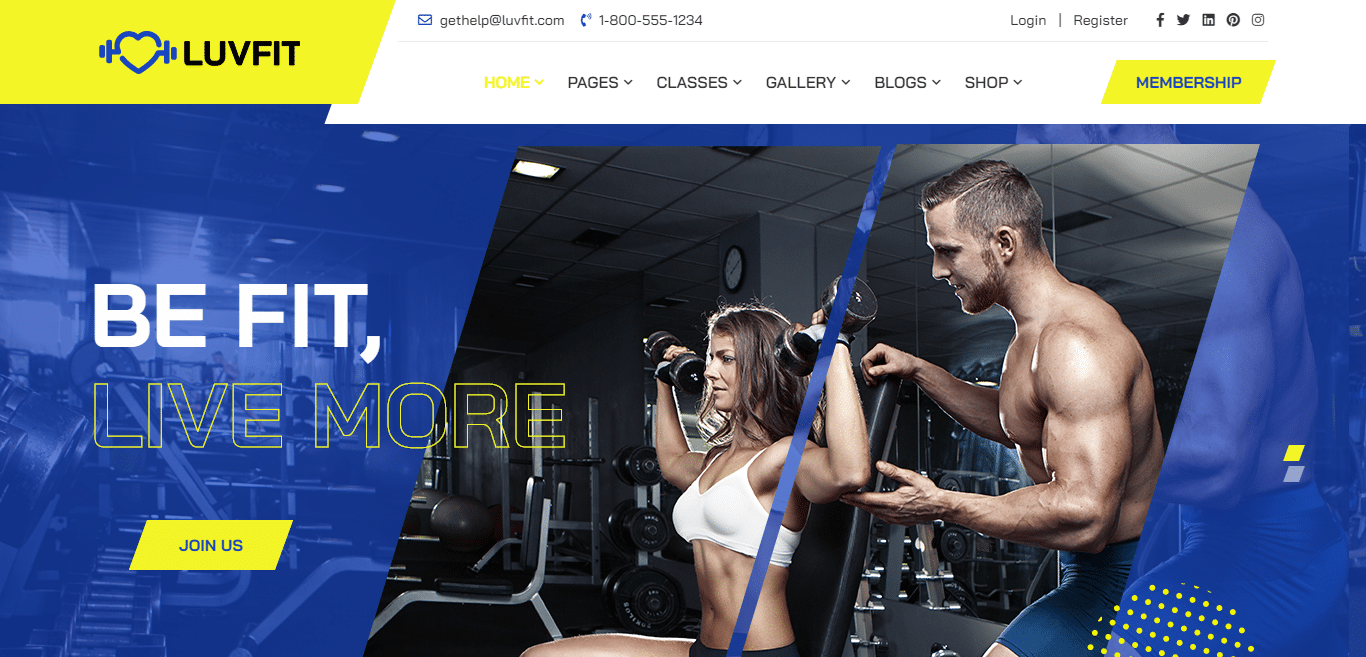 luvfit-gym-website-template