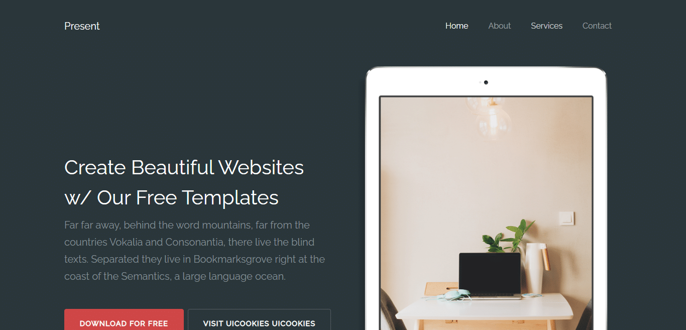 present-free-simple-website-template