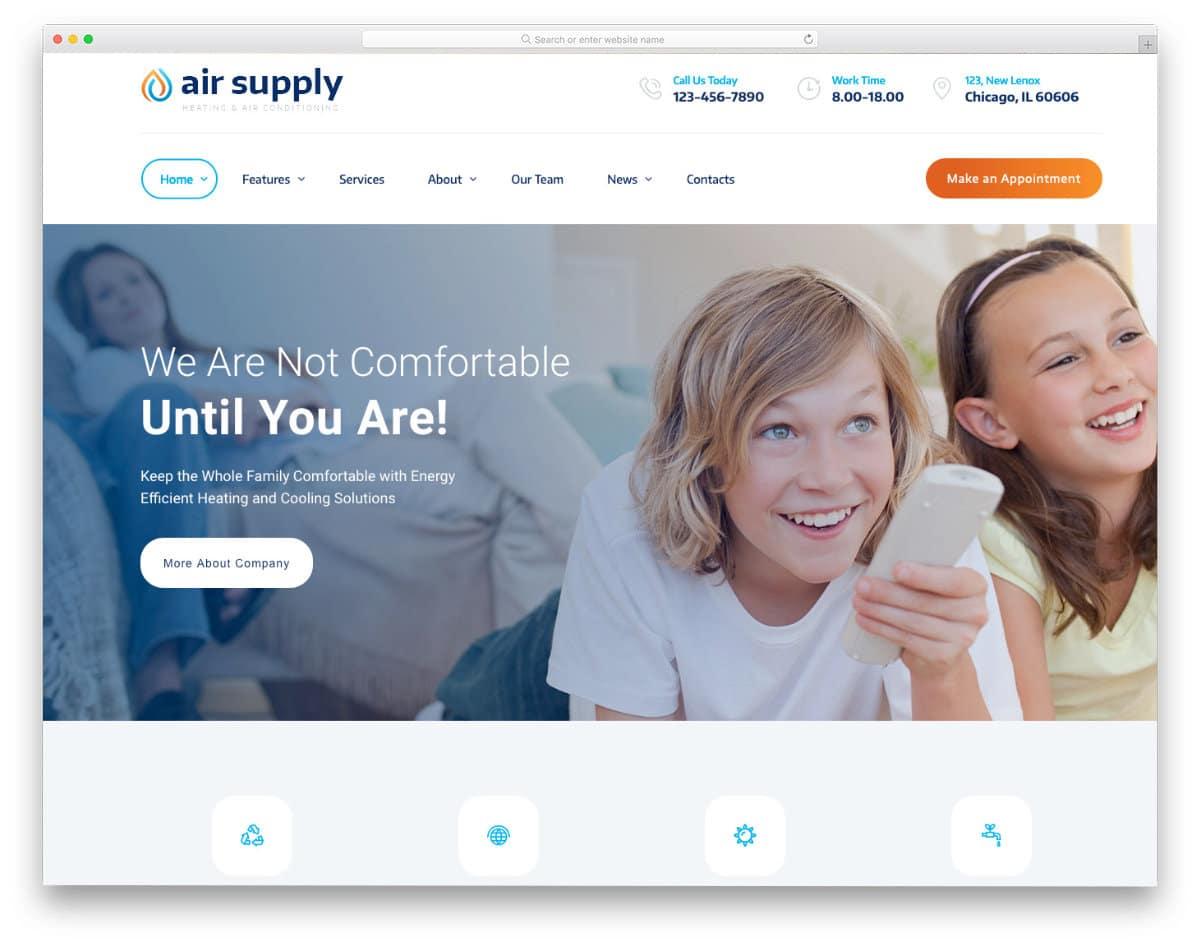 service business website template