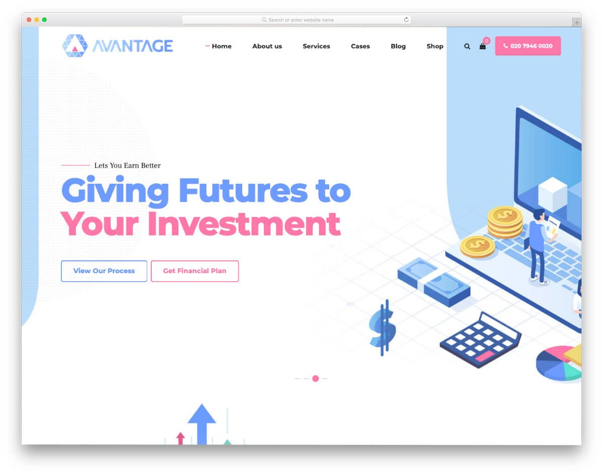 website template with futuristic design