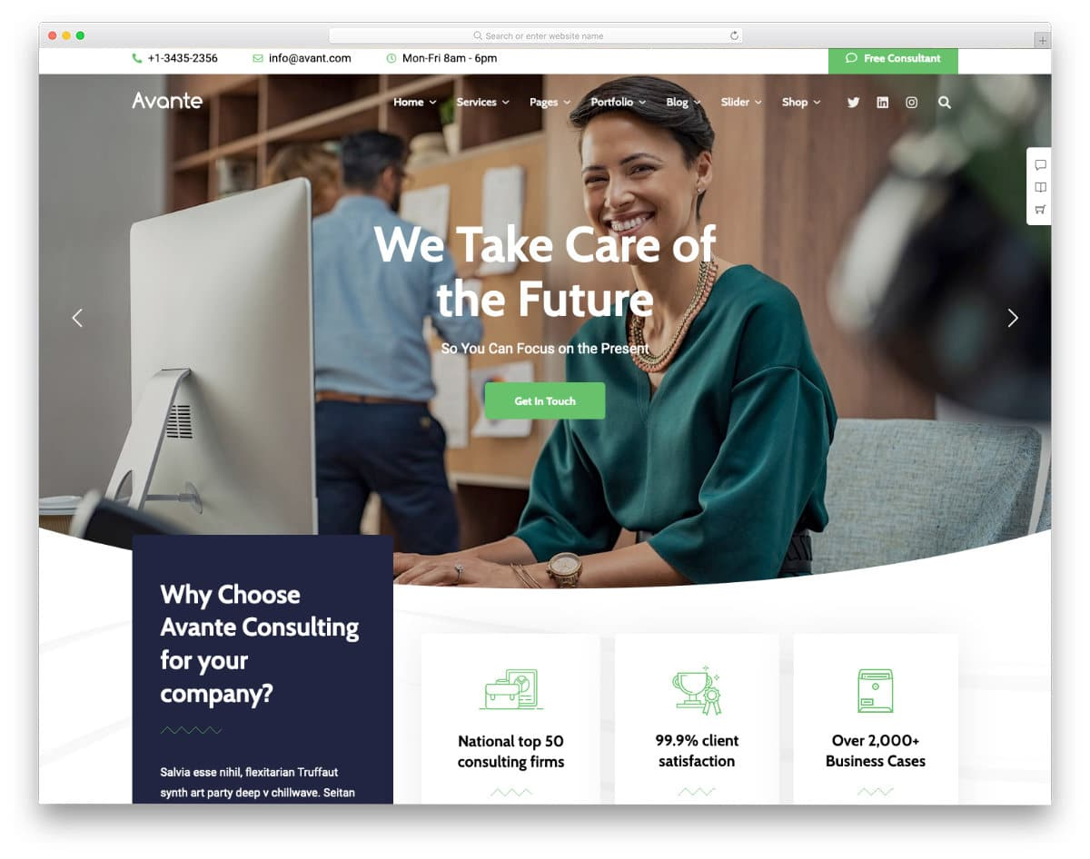 insurance agency and broking company website template