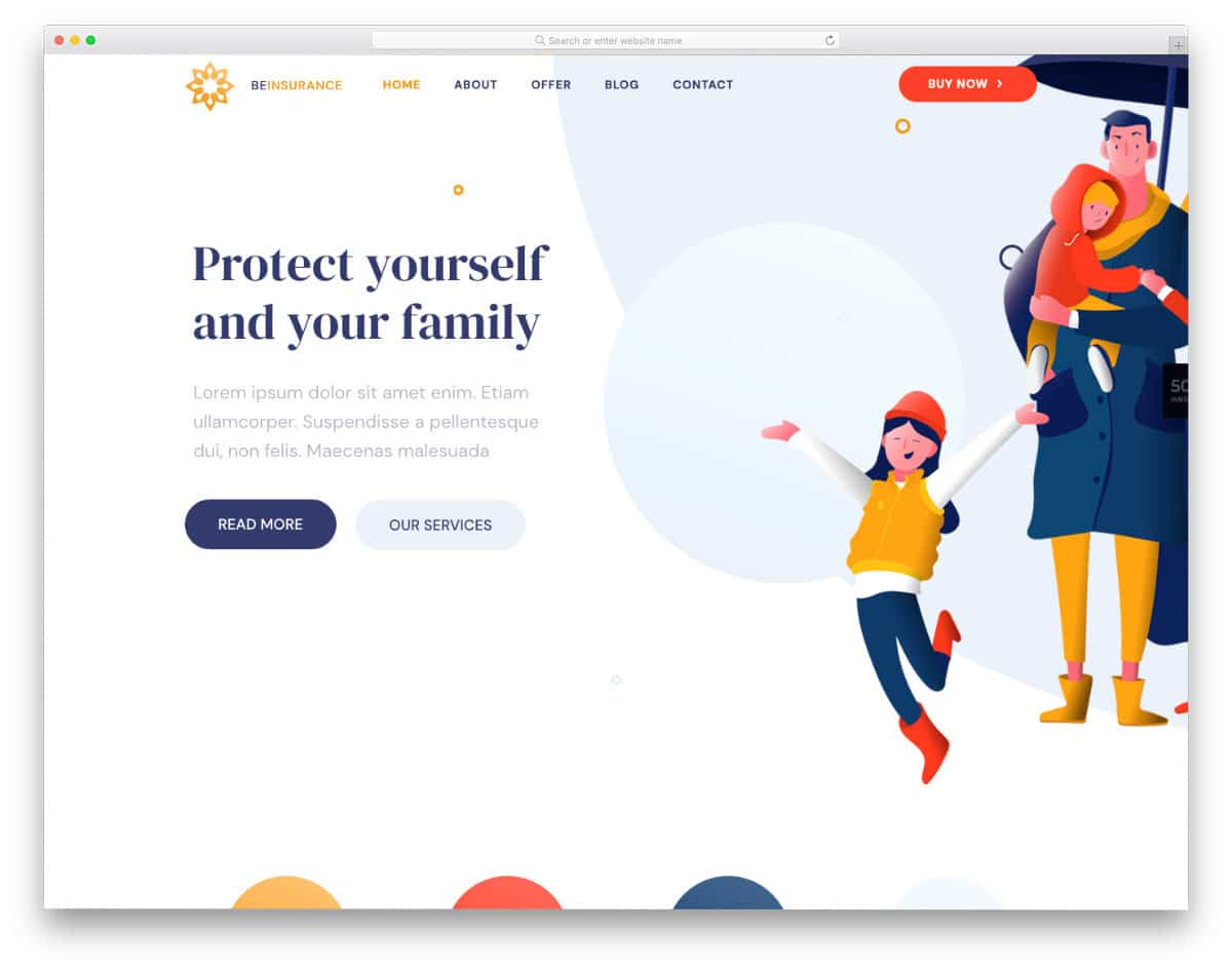 multipurpose website template with handy options