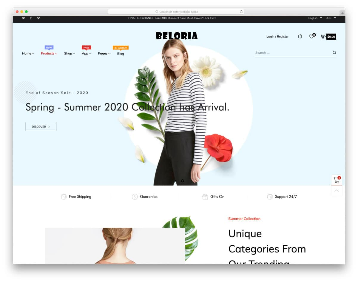 simple shopify themes with beautiful designs