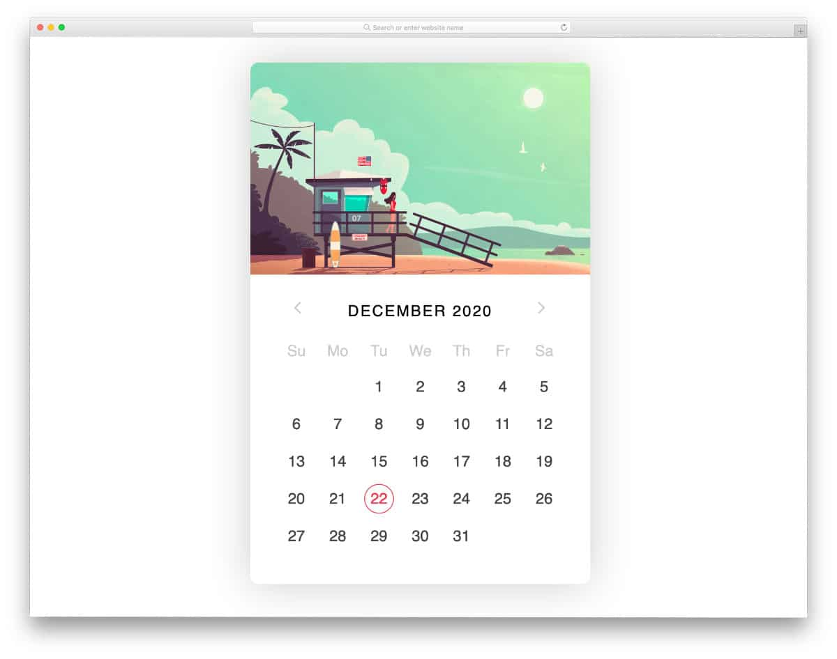 bootstrap datepicker calendar with images