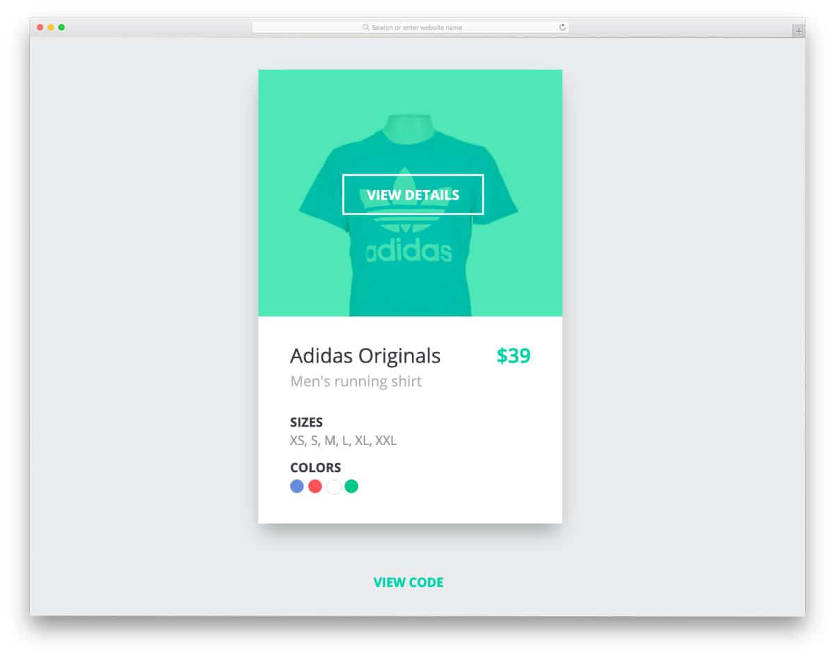bootstrap card example for products