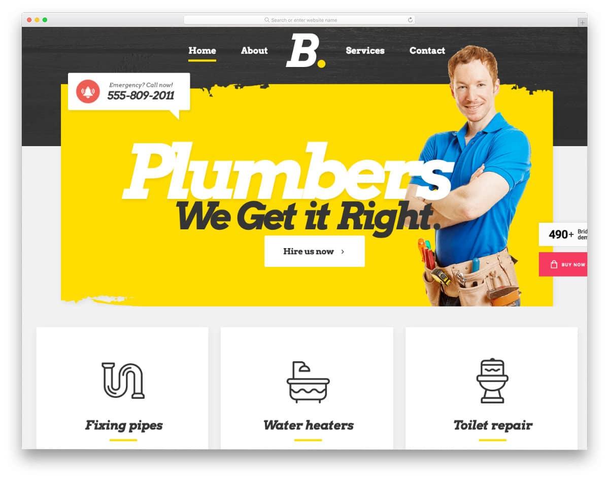 trendy-looking plumbing website templates