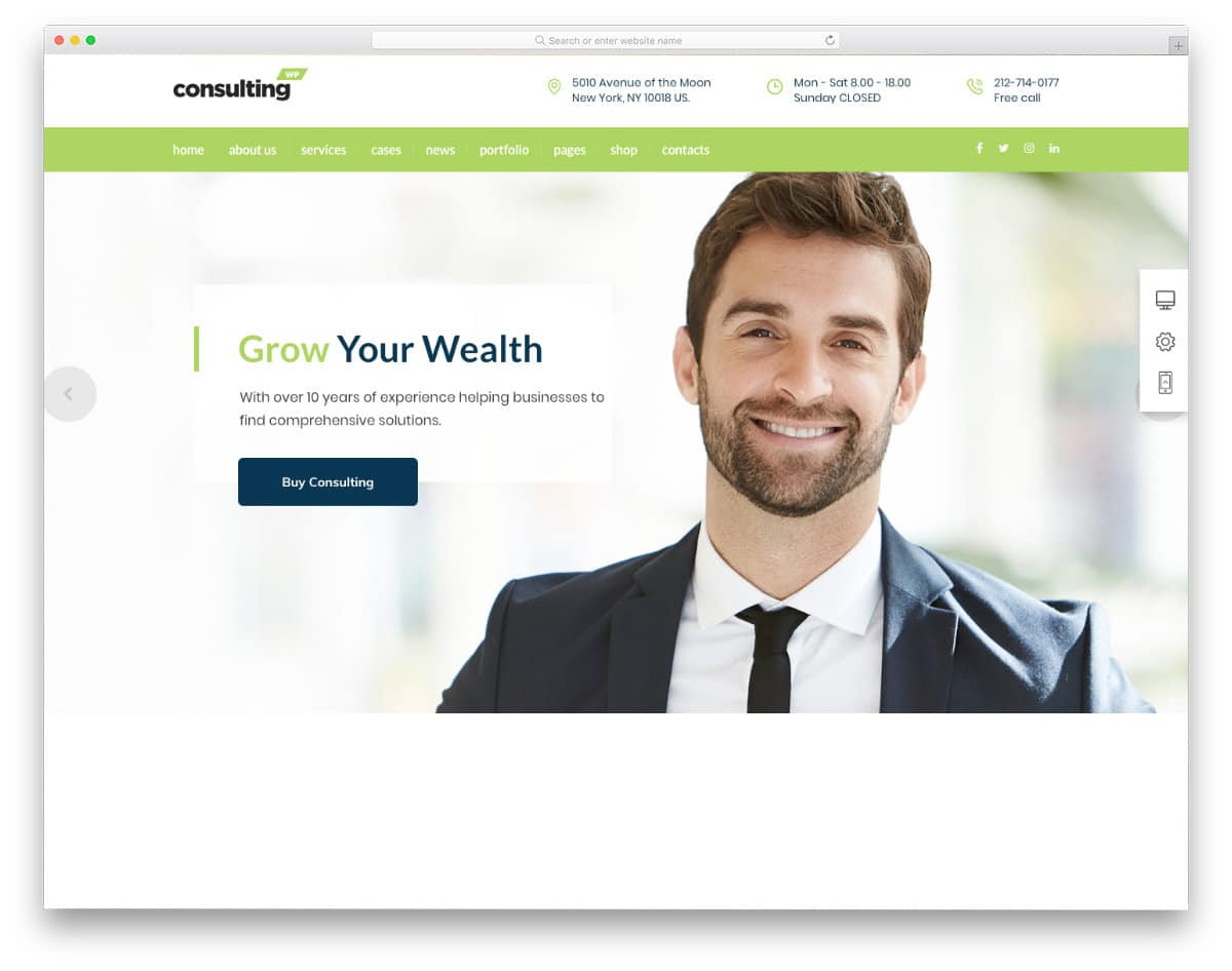 insurance agent and advisor personal website template
