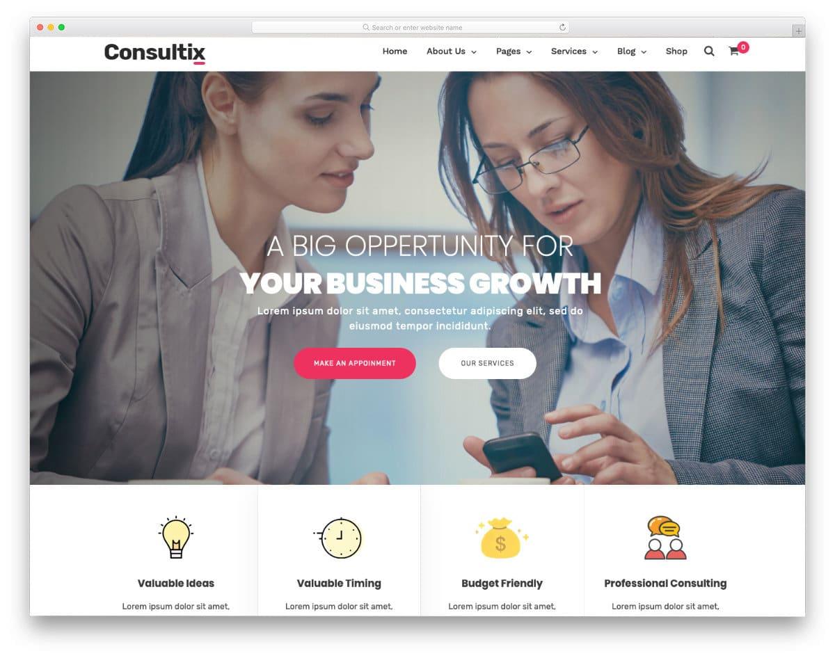 multipurpose website template for consultancy companies