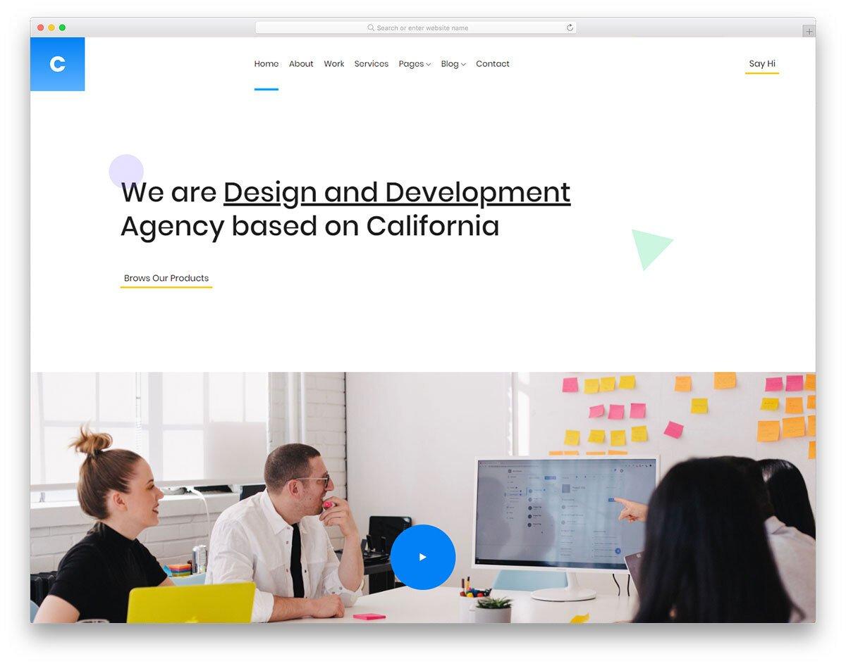 visual studio website template for creative agencies