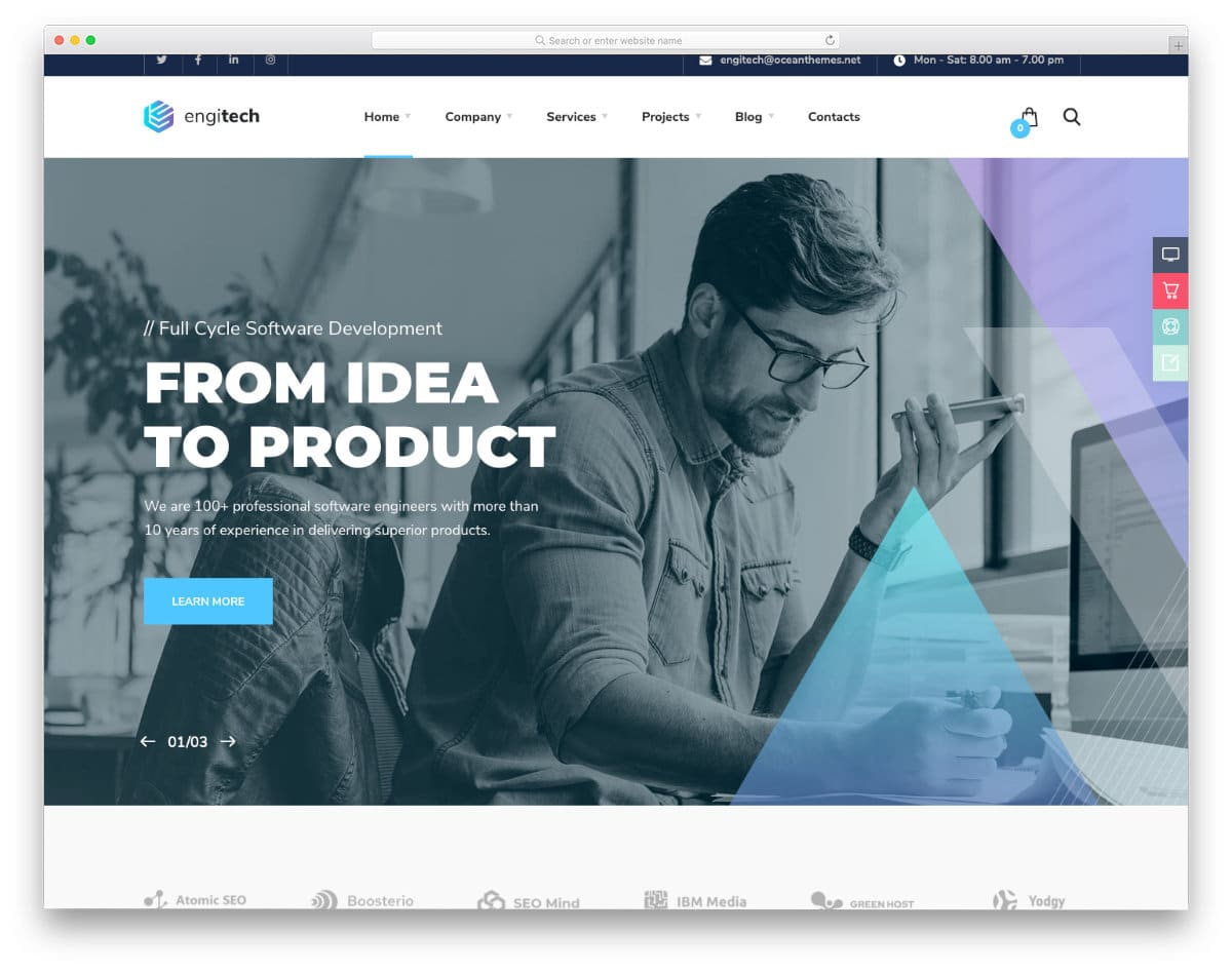 sophisticated website template