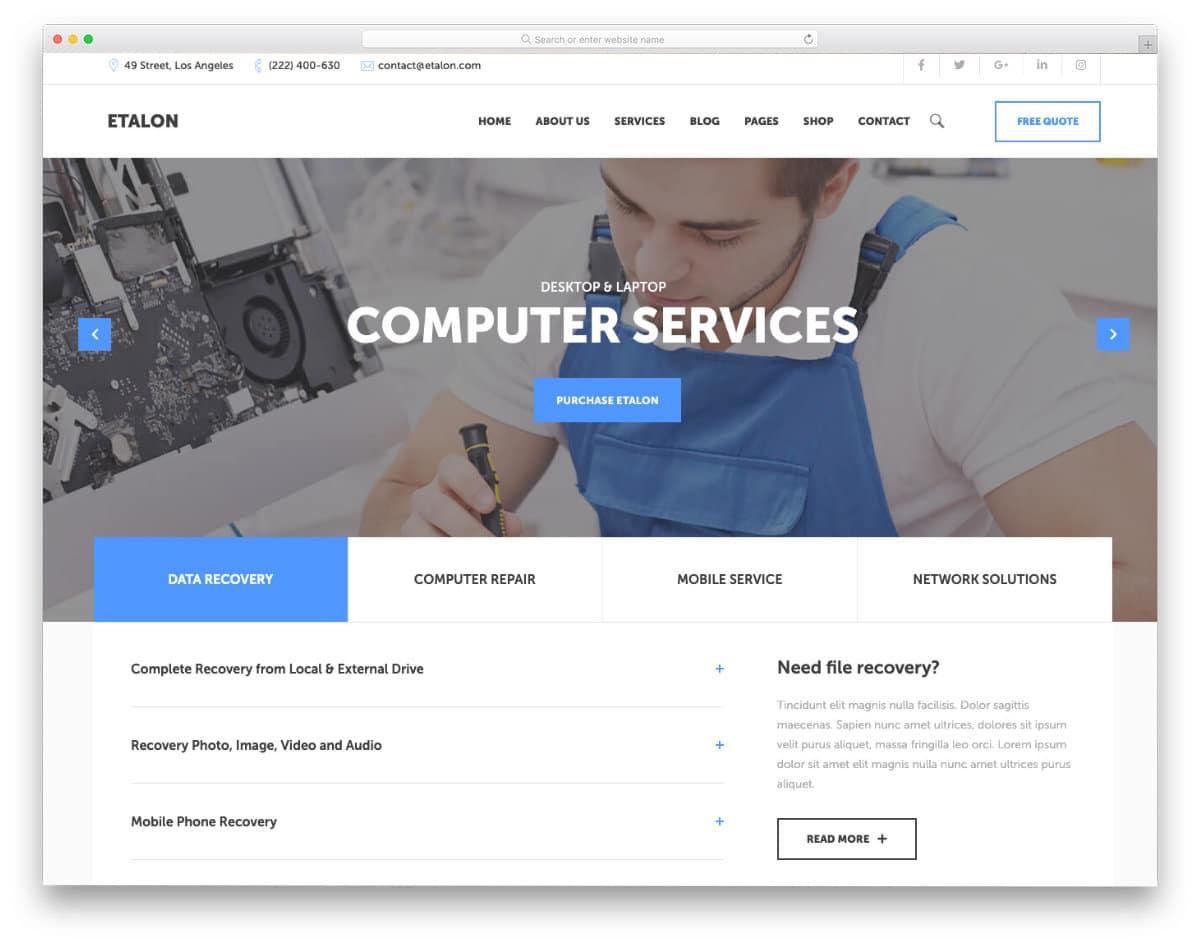 computer shop website template
