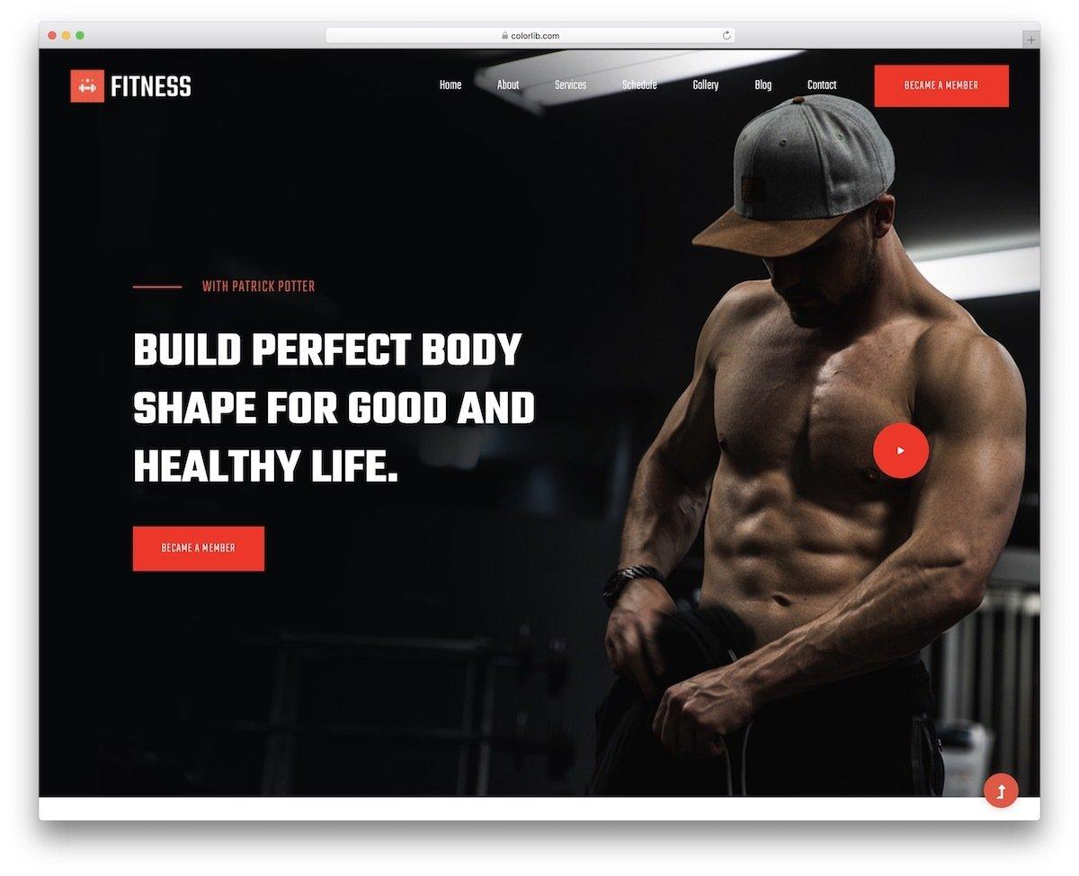modern fitness website template