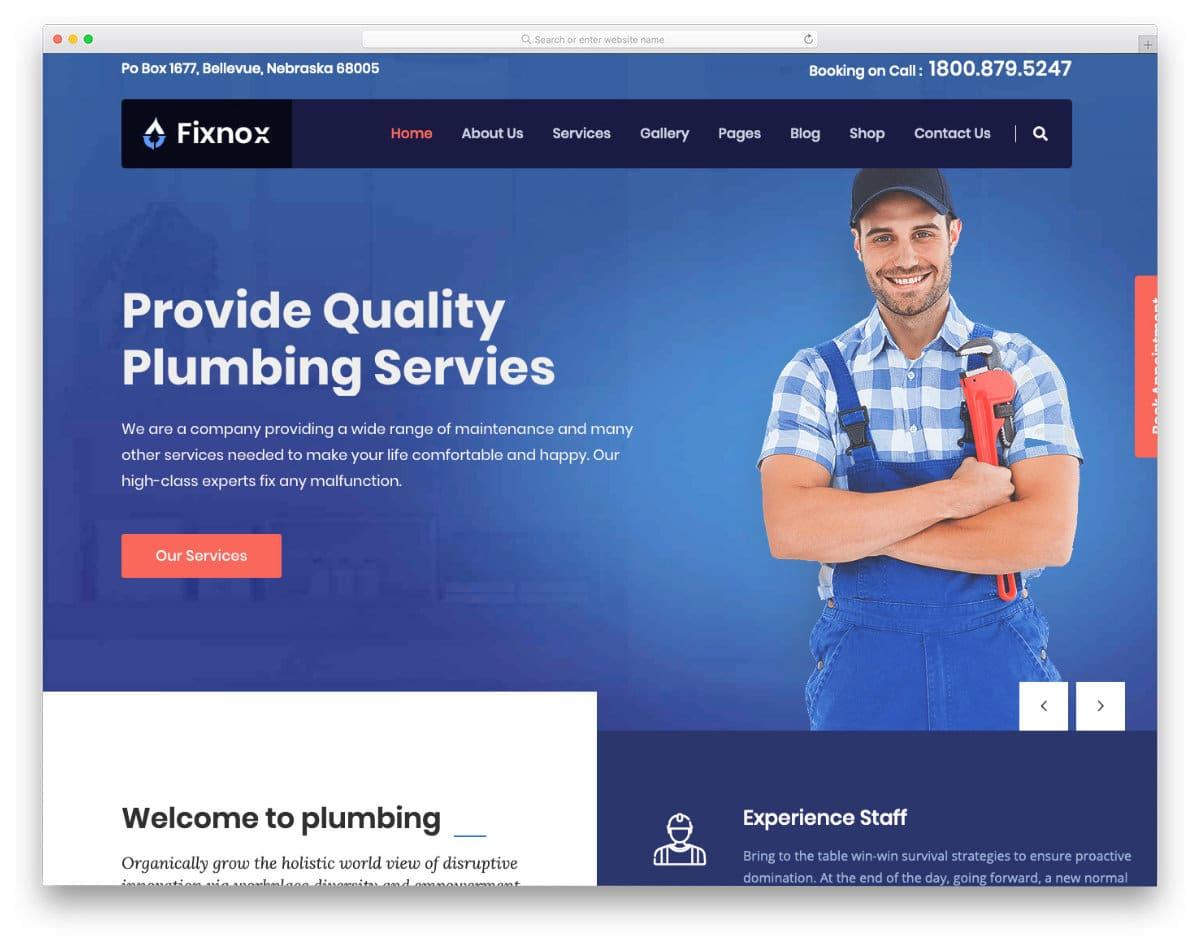 premium-quality plumbing website templates
