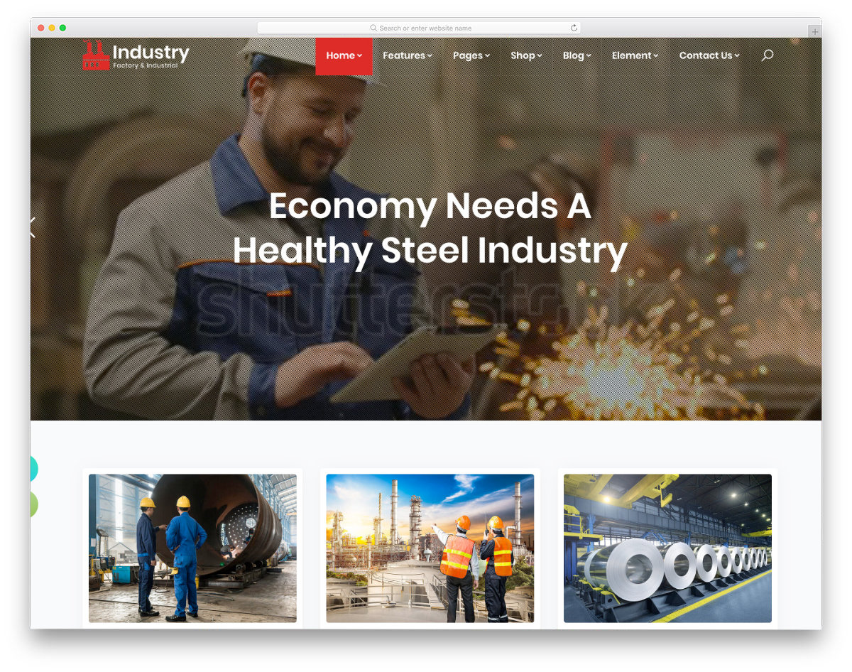html website template for industries