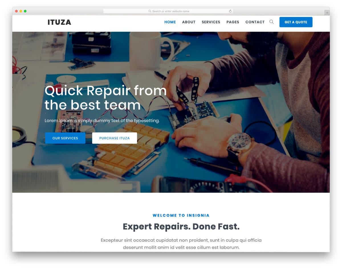 multipurpose computer repair web templates