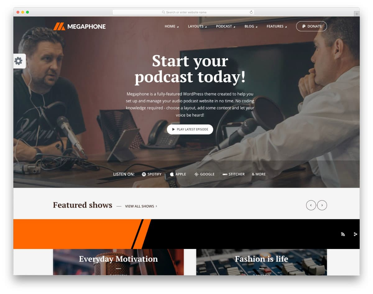 podcast website templates for corporates