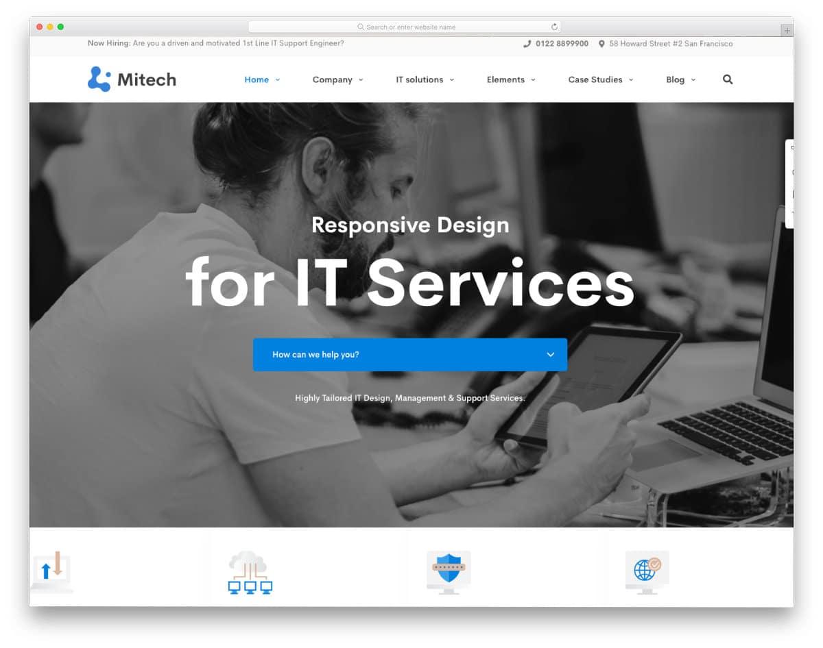professional looking WordPress website template