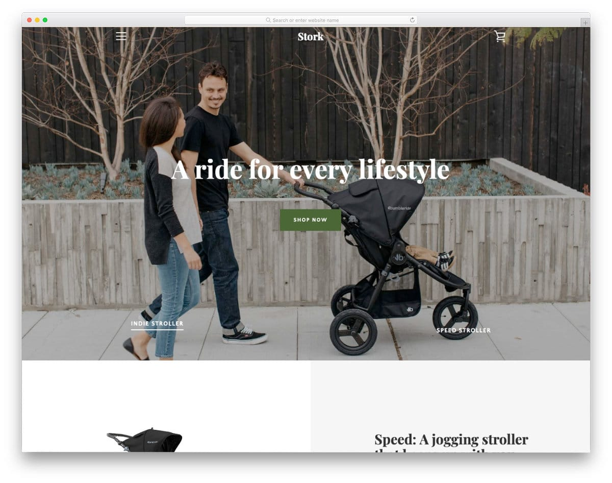 interactive product-focused landing page