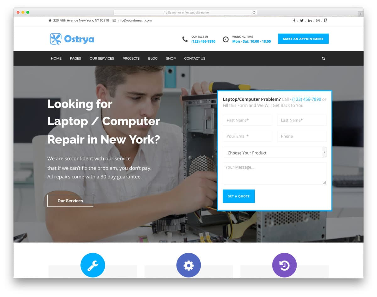 developer-firendly computer repair web templates