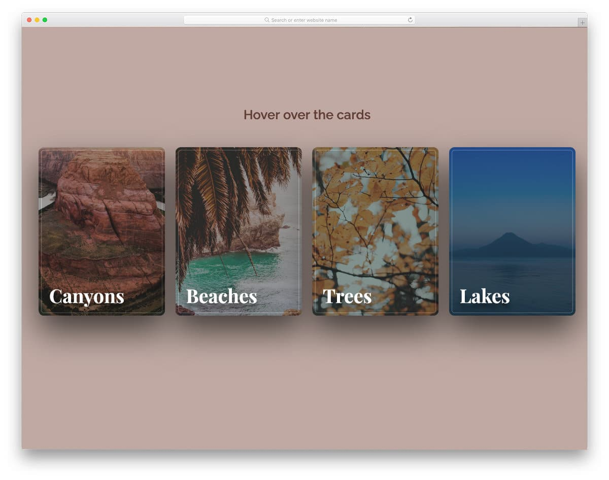 bootstrap card template with interactive hover effects