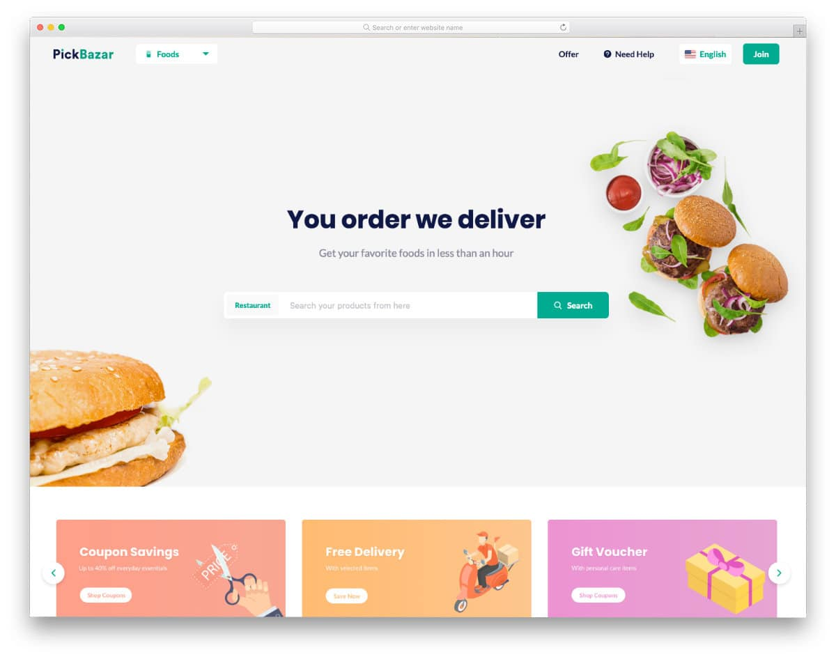 online ordering and online store templates