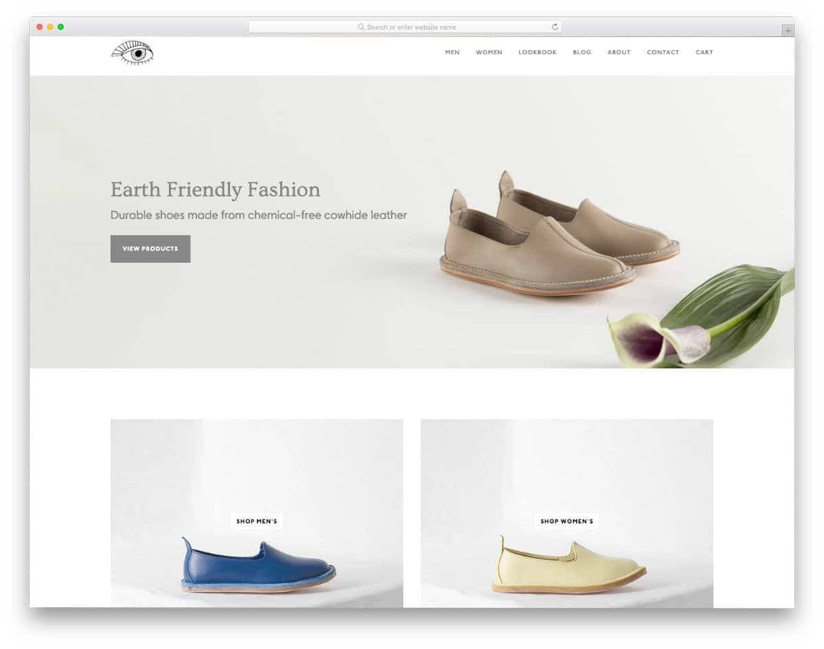 minimal Shopify parallax theme