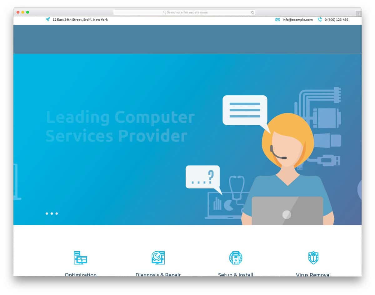easy-to-interact computer repair web templates