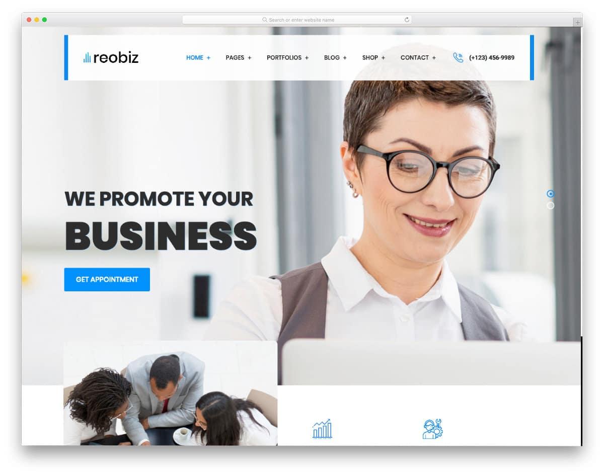 business consultancy website template