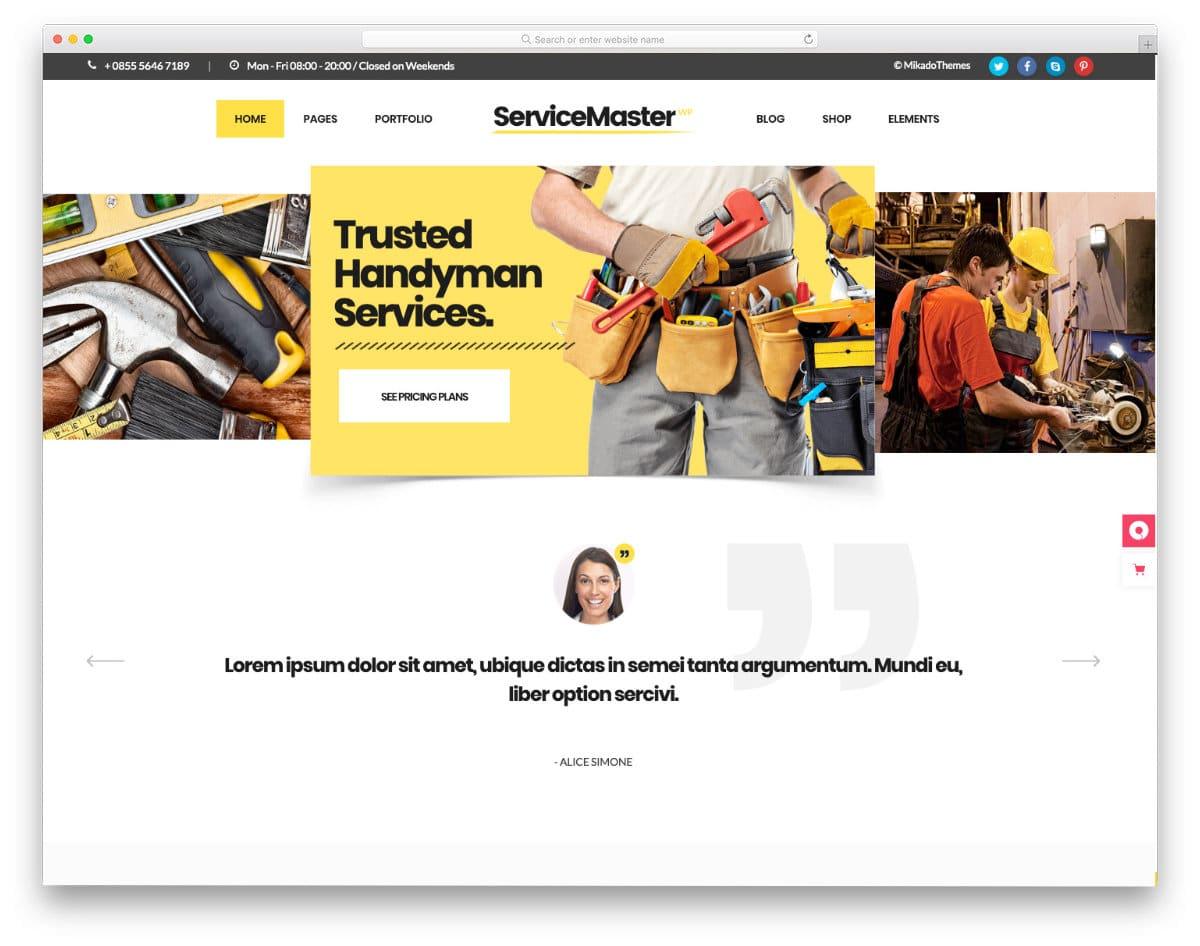 multipurpose service business website template
