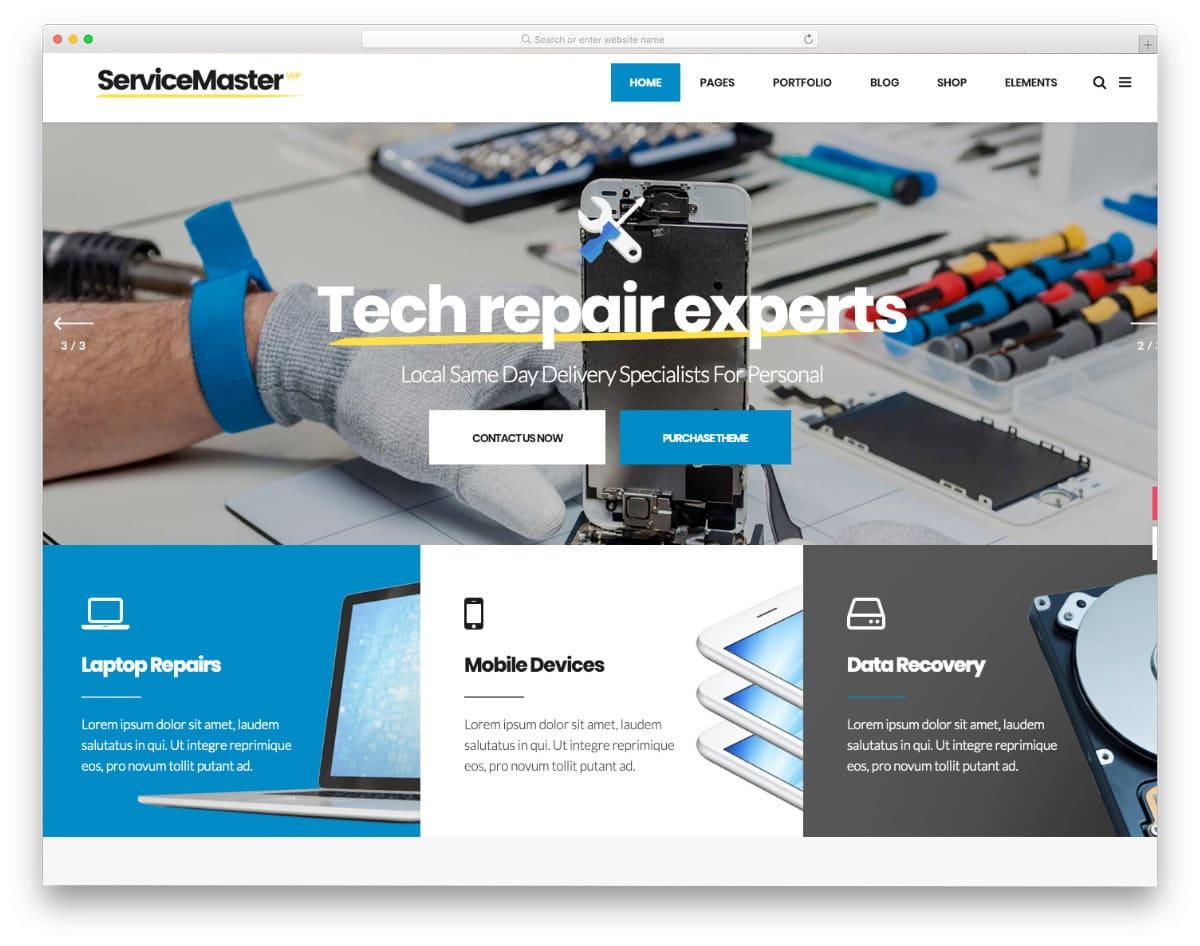 techrepair website template