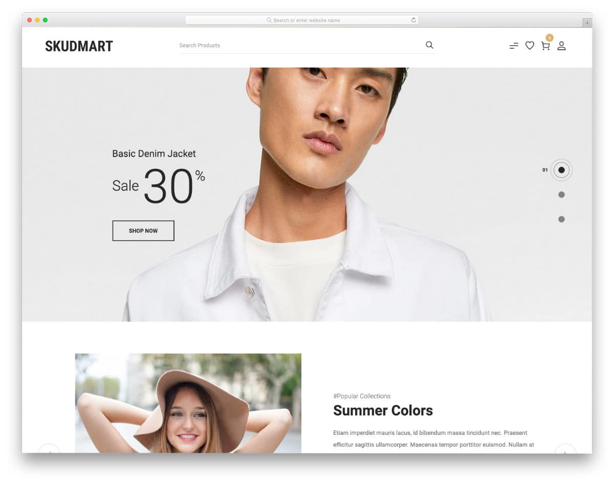 simple shopify themes for fashion stores