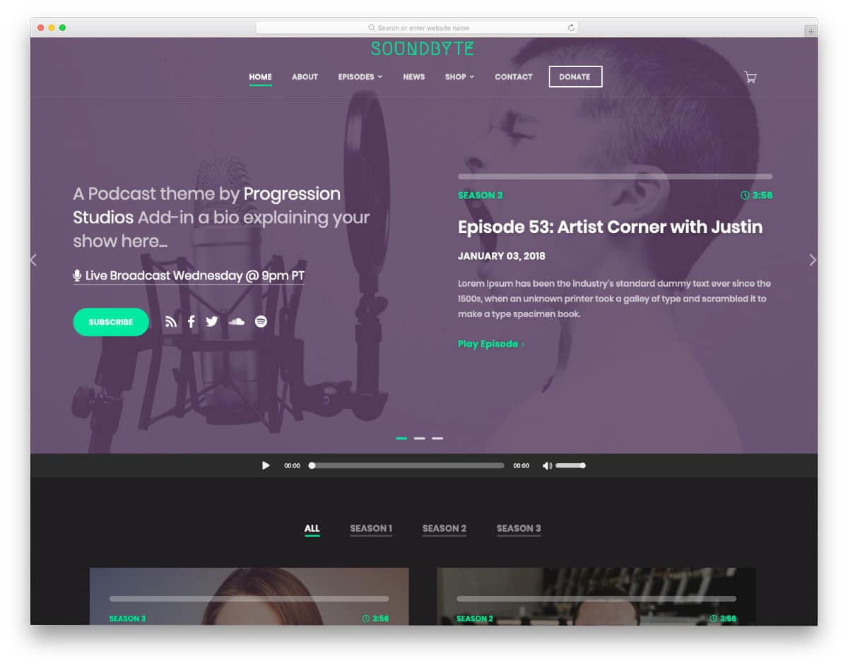 podcast website templates for professionals