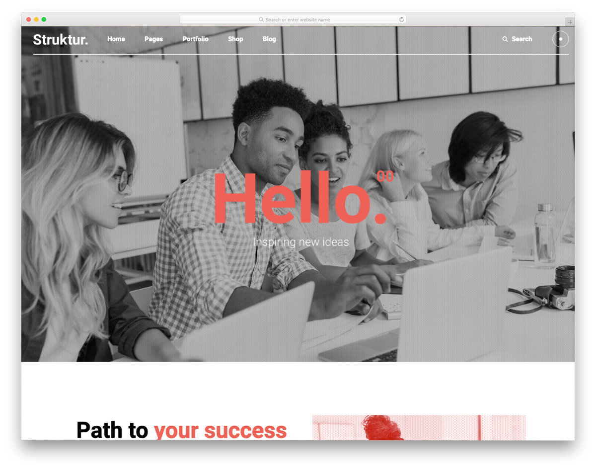 radical design website template