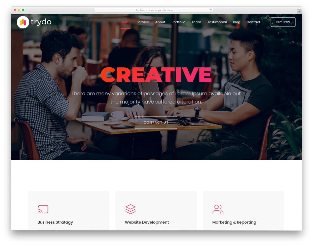 creative and dynamic website template