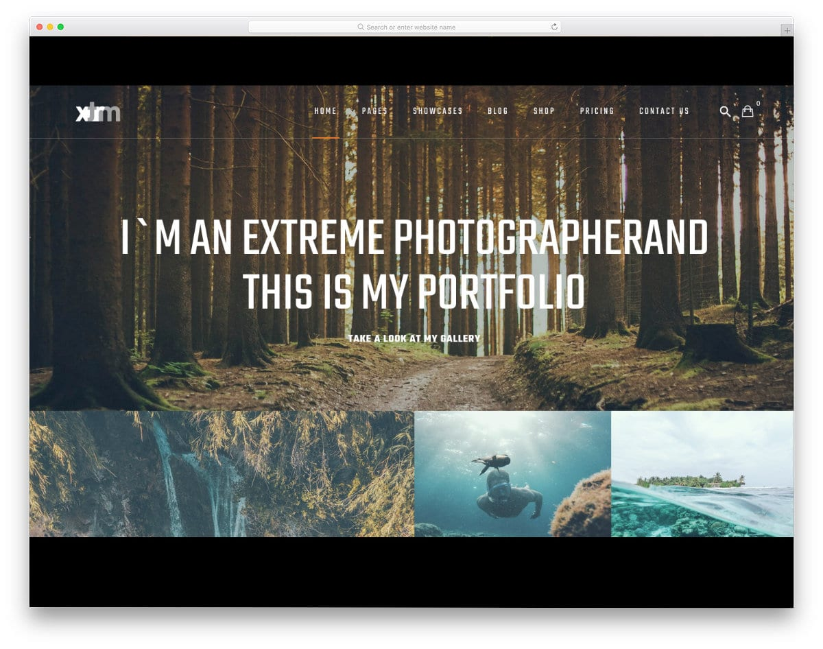 extreme sports website template