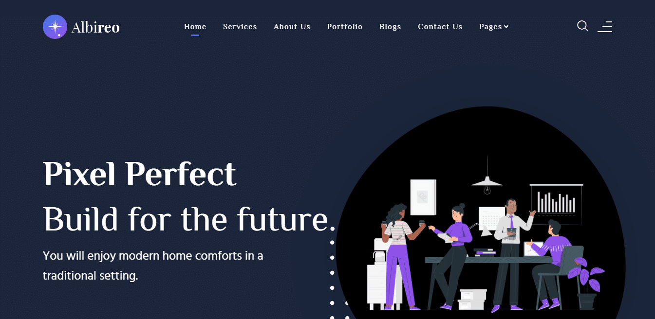 albireo-dark-website-template