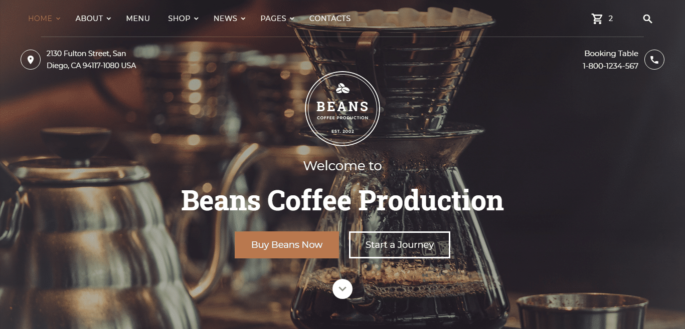beans-coffeeshop-website-template