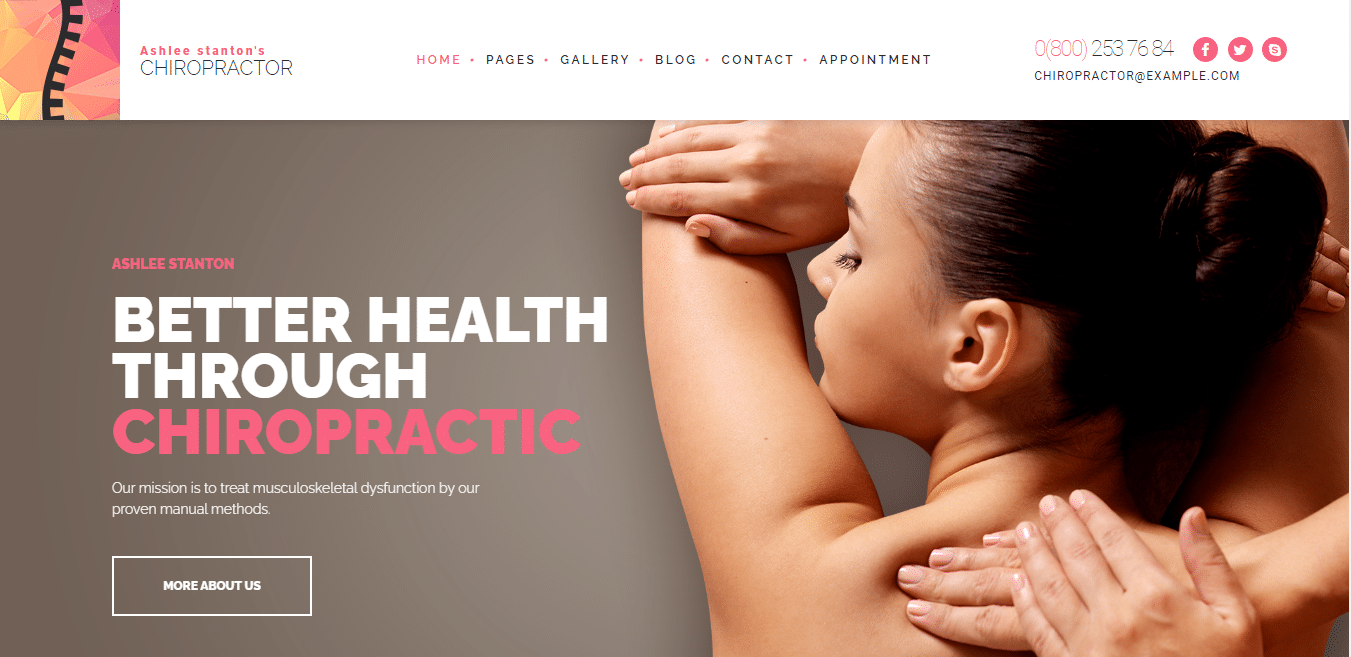 chiropractor-physical-therapy-website-template