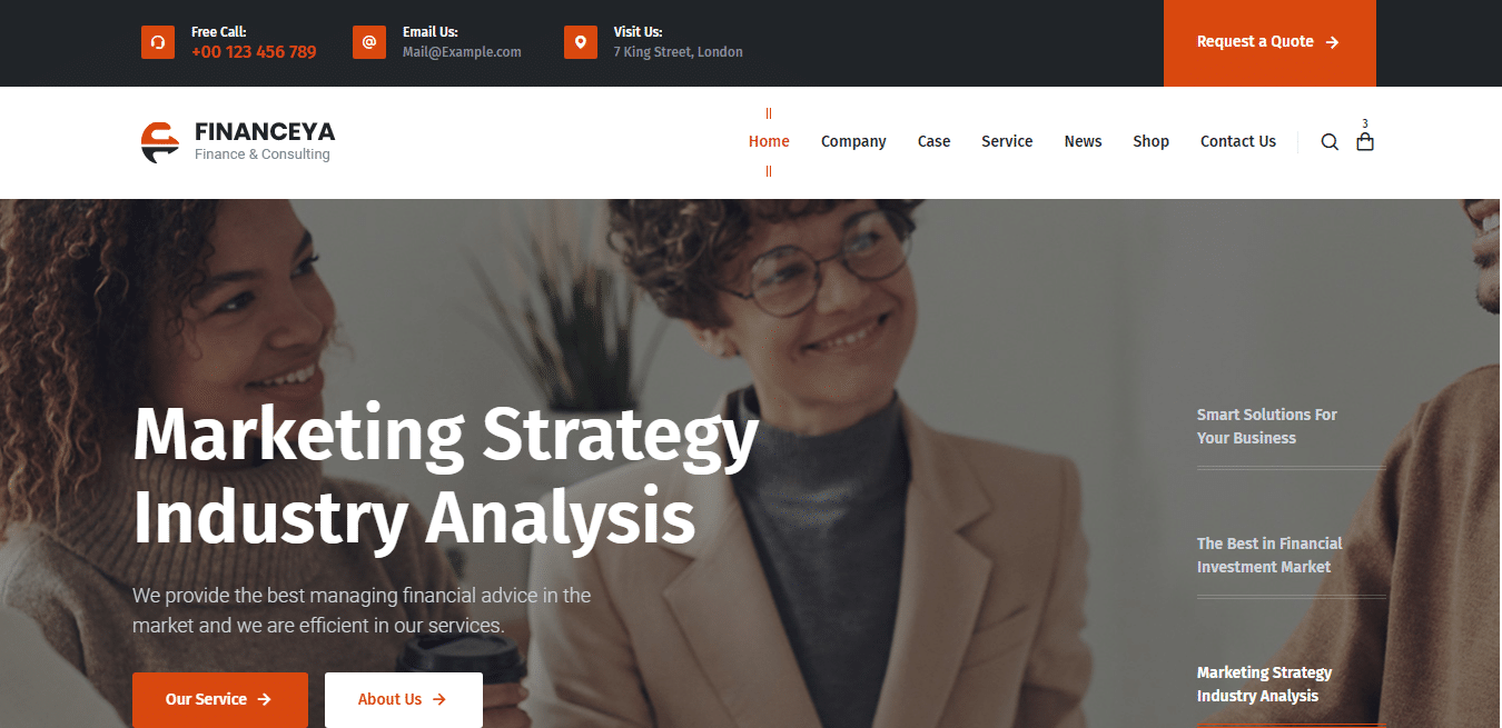 financeya-accounting-website-template